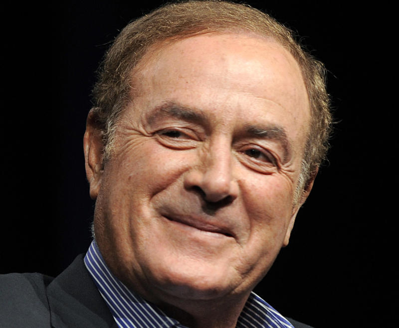 FILE - This is an Aug. 1, 2011 file photo showing NBC Sports announcer Al Michaels in Beverly Hills, Calif. Police in Southern California say that Michaels has been arrested on suspicion of drunken driving. Santa Monica police Sgt. Thomas McLaughlin says Michaels was taken into custody Friday night, April 19, 2013. McLaughlin could provide no additional details. (AP Photo/Chris Pizzello, File)