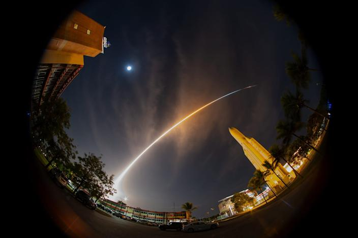 """The joint ESA-JAXA BepiColombo mission to Mercury lifted off from Europe's spaceport in Kourou, French Guiana, on October 20, 2018. <p class=""""copyright"""">S. Corvaja/ESA</p>"""