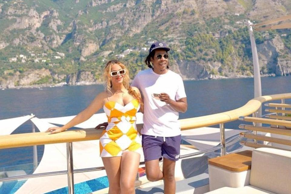 Beyonce and Jay-Z are on holiday in the Med  (Beyonce/Instagram)