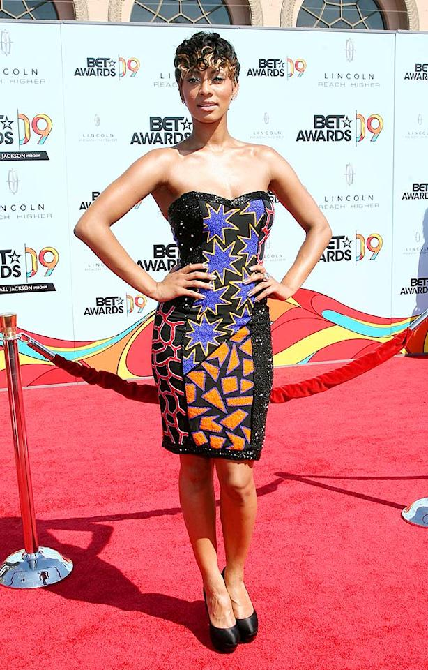 """Just like Lil Mama, Best New Artist winner Keri Hilson delivered a dud thanks to her hairdon't. Maury Phillips/<a href=""""http://www.wireimage.com"""" target=""""new"""">WireImage.com</a> - June 28, 2009"""