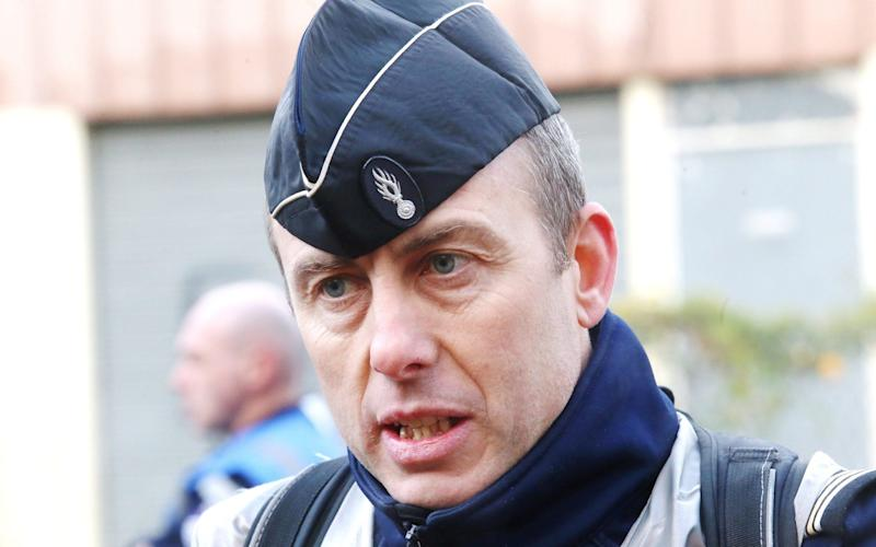 Arnaud Beltrame, the policeman who died after being seriously injured during the siege, was praised by Emmanuel Macron - Maxppp