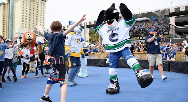 Fin the Whale was deemed unfit for the draft lottery. (Getty)