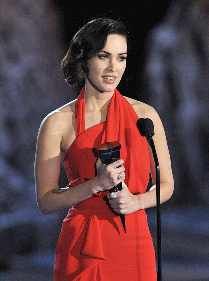 """<a href=""""http://movies.yahoo.com/movie/contributor/1808488000"""">Megan Fox</a> at the 2009 Spike TV Scream Awards in Los Angeles - 10/17/2009"""