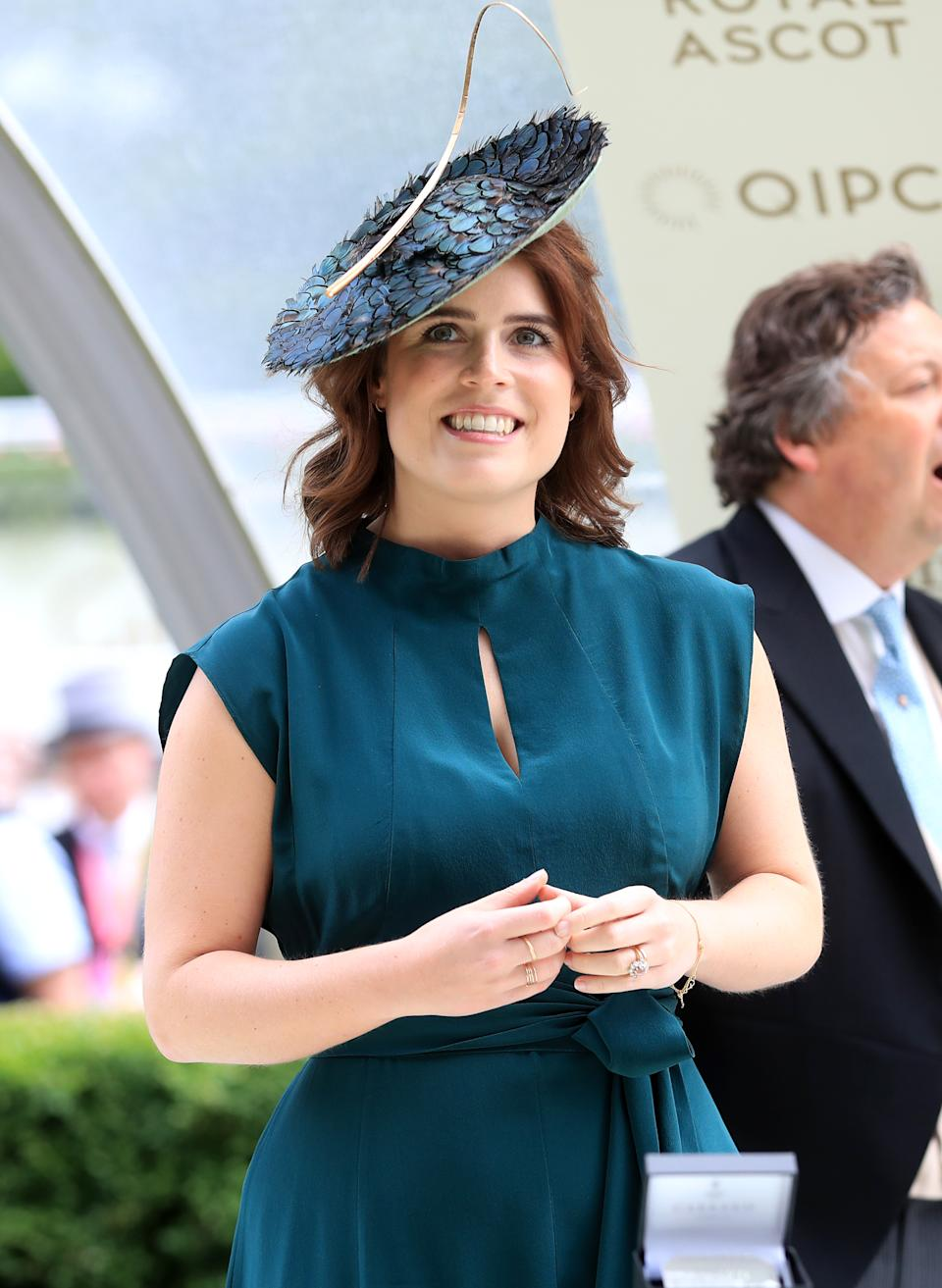 Princess Eugenie in the winners enclosure during day three of Royal Ascot at Ascot Racecourse.