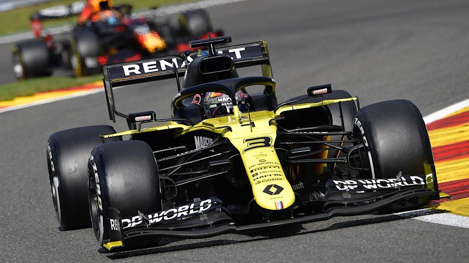 Seen here, Daniel Ricciardo secured himself a fourth-placed finish at the Belgian GP.