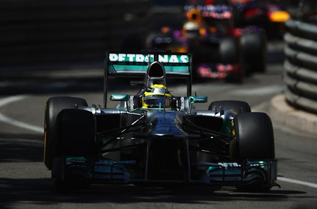MONTE-CARLO, MONACO - MAY 26: Nico Rosberg of Germany and Mercedes GP drives on his way to winning the Monaco Formula One Grand Prix at the Circuit de Monaco on May 26, 2013 in Monte-Carlo, Monaco. (Photo by Bryn Lennon/Getty Images)