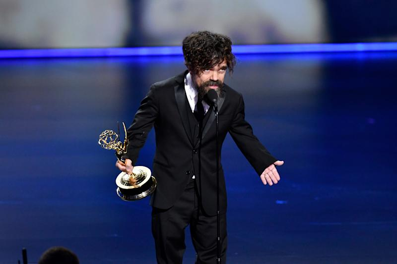 Peter Dinklage won supporting actor in a drama, one of two Emmy wins for