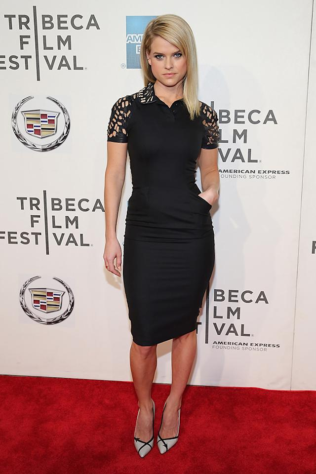 """NEW YORK, NY - APRIL 21:  Actress Alice Eve attends the """"Some Velvet Morning"""" World Premiere during the 2013 Tribeca Film Festival on April 21, 2013 in New York City.  (Photo by Neilson Barnard/Getty Images for Tribeca Film Festival)"""