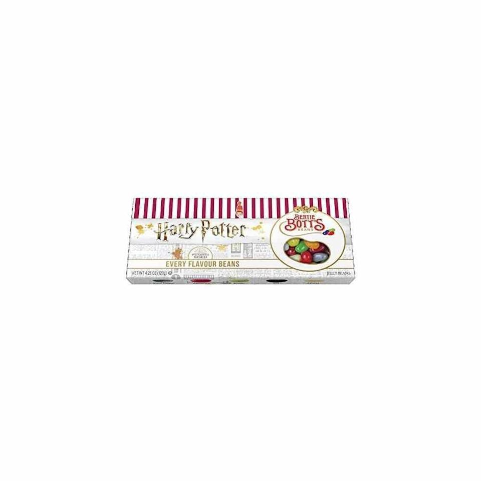 """<p><strong>Jelly Belly</strong></p><p>amazon.com</p><p><strong>$9.05</strong></p><p><a href=""""https://www.amazon.com/dp/B07JYRP64L?tag=syn-yahoo-20&ascsubtag=%5Bartid%7C10072.g.34373773%5Bsrc%7Cyahoo-us"""" rel=""""nofollow noopener"""" target=""""_blank"""" data-ylk=""""slk:SHOP NOW"""" class=""""link rapid-noclick-resp"""">SHOP NOW</a></p><p>The whole family will get a kick out of the silly taste test that's sure to ensue once this treat is uncovered. </p>"""