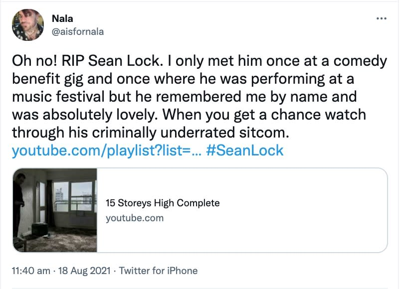 Fans have paid tribute to l(Twitter)