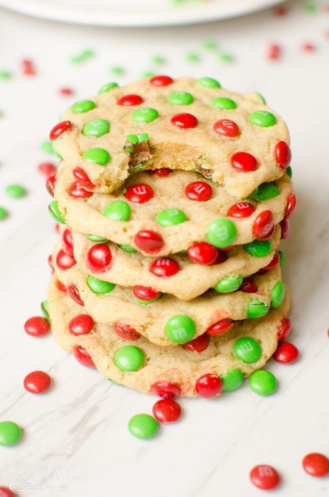 "<p>Because sometimes all you need in sugar cookies is a huge helping of M&Ms. </p><p><strong>Get the recipe at <a href=""https://cookingwithkarli.com/mm-christmas-cookies/"" rel=""nofollow noopener"" target=""_blank"" data-ylk=""slk:Cooking with Karli"" class=""link rapid-noclick-resp"">Cooking with Karli</a>.</strong></p>"