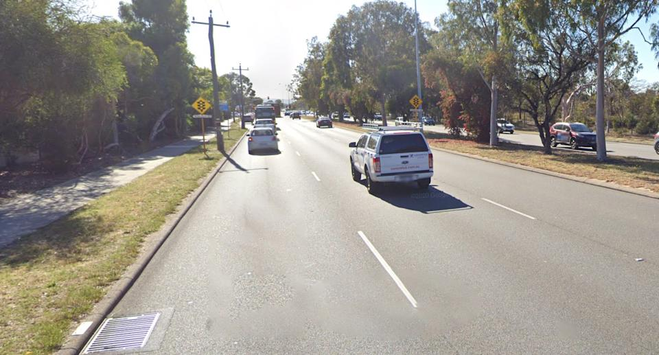 A Google Maps image of the Leach Highway, Perth.