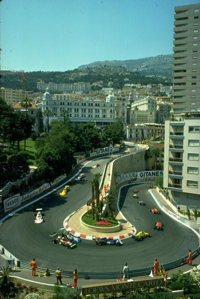 General view of the field during the Monaco Grand Prix at the Monte Carlo circuit in Monaco. \ Mandatory Credit: Tony Duffy/Allsport