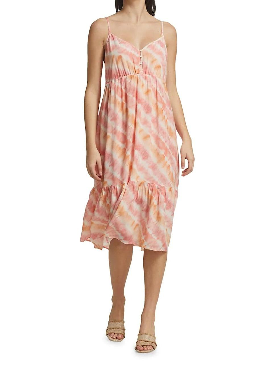 <p>This <span>Rails Delilah Tie-Dye Tiered Dress</span> ($198) makes an easy-breezy pick for summer picnics, museum dates, or coffee shop runs.</p>