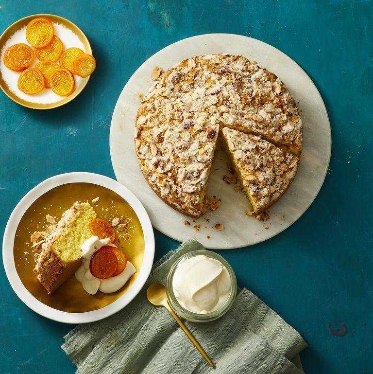"""<p>Top this sweet cake with EVOO and candied clementines for the perfect end to Father's Day brunch.</p><p><strong><em><a href=""""https://www.womansday.com/food-recipes/food-drinks/a29787508/olive-oil-clementine-cake/"""" rel=""""nofollow noopener"""" target=""""_blank"""" data-ylk=""""slk:Get the Olive Oil Clementine Cake recipe."""" class=""""link rapid-noclick-resp"""">Get the Olive Oil Clementine Cake recipe.</a></em></strong></p><p><strong>RELATED:</strong> <a href=""""http://www.womansday.com/home/crafts-projects/g2986/free-printable-fathers-day-cards/"""" rel=""""nofollow noopener"""" target=""""_blank"""" data-ylk=""""slk:42 Father's Day Cards You Can Print at Home"""" class=""""link rapid-noclick-resp"""">42 Father's Day Cards You Can Print at Home</a><br></p>"""