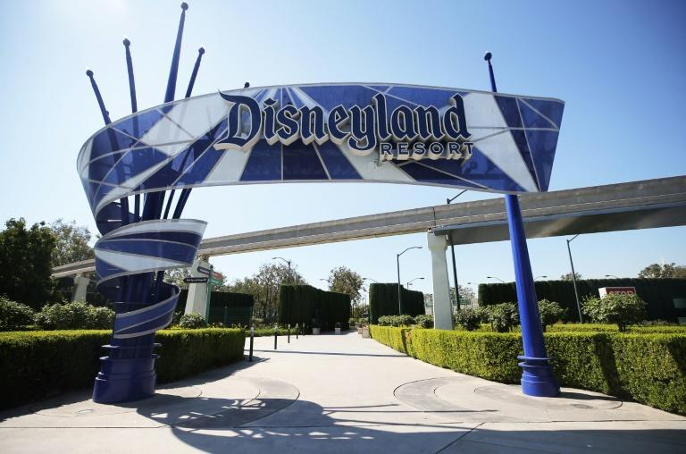 An entrance area to Disneyland stands empty on September 30, 2020 in Anaheim, California