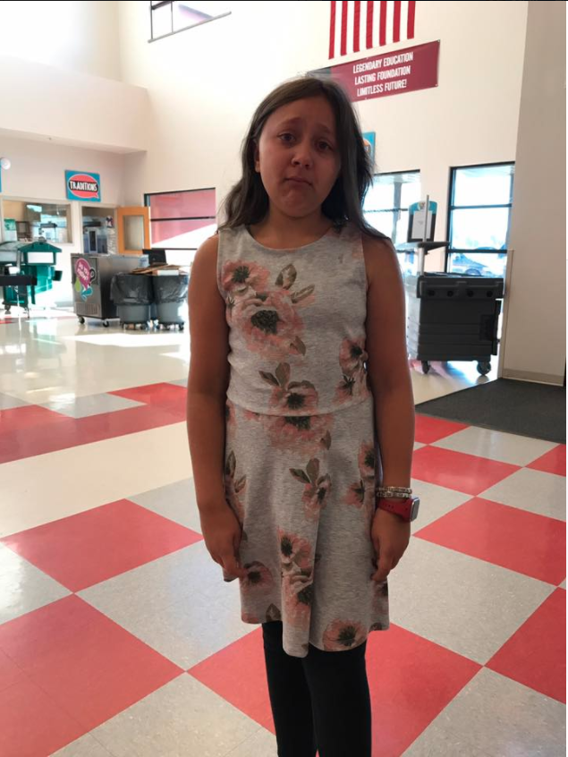 The little girl was pictured crying in the Facebook post. Photo: Facebook