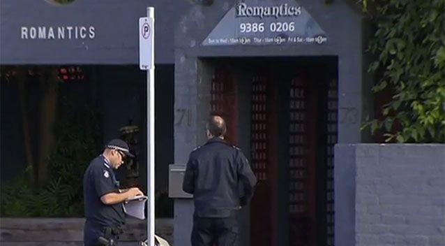 The brothel where the elderly man fired his shots. Source: 7 News