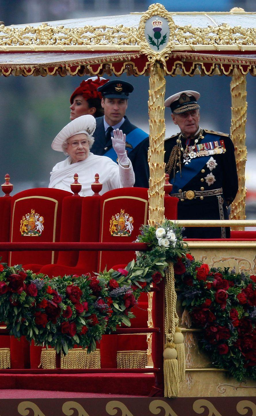 """<p>The Queen celebrated her 60-year reign in 2012 with her Diamond Jubilee. Four years later, she <a href=""""https://www.biography.com/royalty/queen-victoria"""" rel=""""nofollow noopener"""" target=""""_blank"""" data-ylk=""""slk:passed Queen Victoria"""" class=""""link rapid-noclick-resp"""">passed Queen Victoria</a> as the longest-reigning monarch in British history.</p>"""