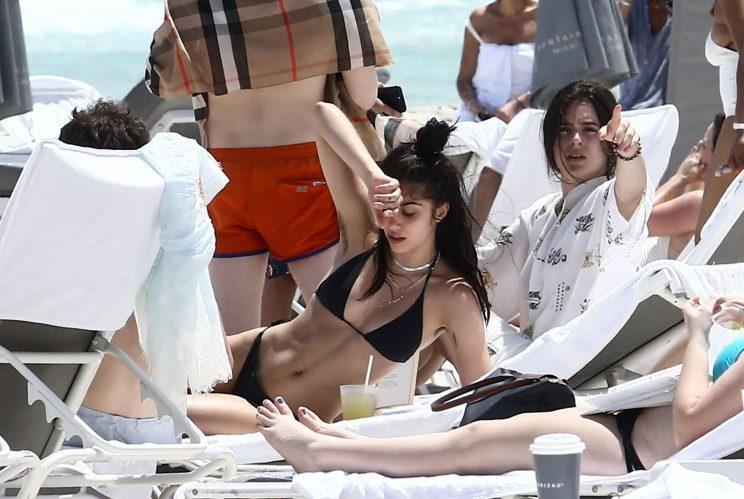 Madonnas Daughter Lourdes Hits The Beach, Proudly Flaunts Her Armpit Hair-9836