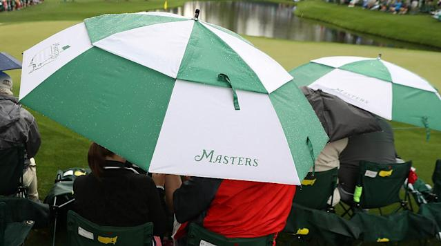 The opening day of the Masters at Augusta National Golf Club didn't last long.