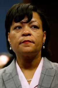 FILE PHOTO: New Orleans mayoral candidate LaToya Cantrell participates in a news conference as Tropical Storm Nate approaches the U.S. Gulf Coast in New Orleans, Louisiana, U.S. on October 6, 2017. REUTERS/Jonathan Bachman/File Photo