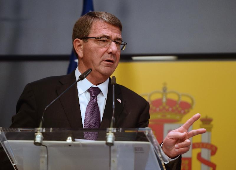 US Secretary of Defense Ashton Carter, pictured on October 5, 2015, says the United States will not cooperate with Russia over air strikes in Syria (AFP Photo/Pierre-Philippe Marcou)