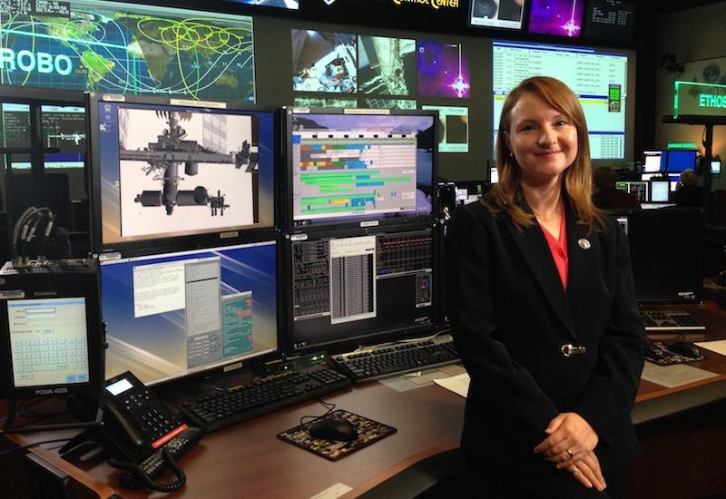 Laura Lucier worked at NASA's Mission Control Center in Houston, Texas, before deciding to attend the University of Calgary after learning she could take part in both ventures thanks to solutions from the university. Photo from NASA.