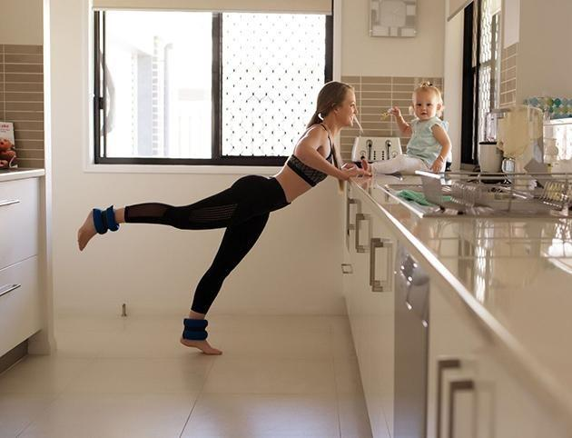 Tamara's workouts have inspired other new mums to jump on board. Image: Caters