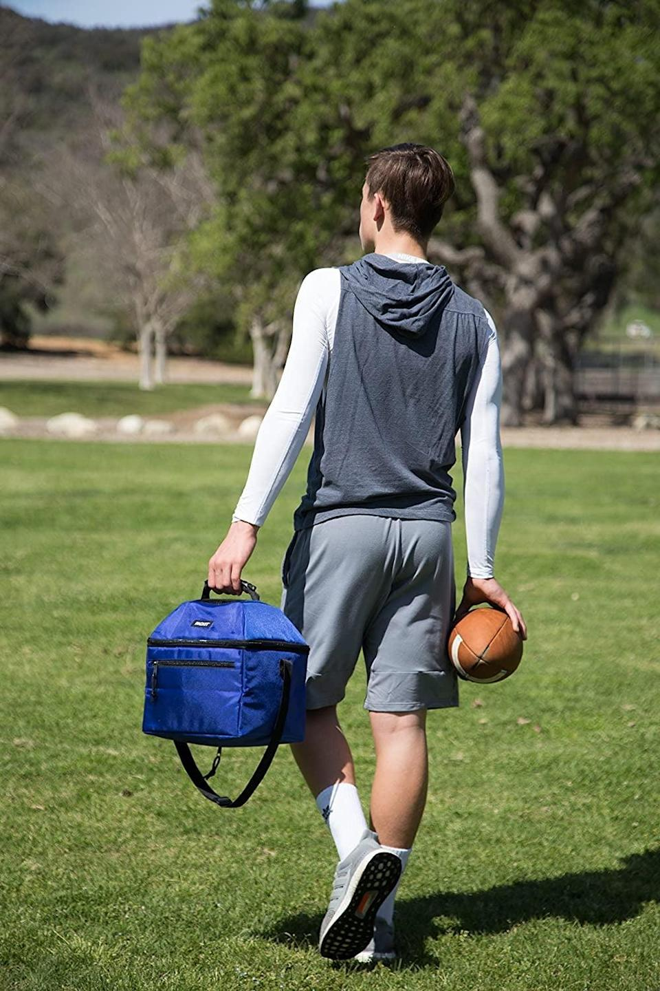 <p>Make sure Dad has a way to keep their favorite beverages cool for all of these outdoor play dates and with the <span>Packit Freezable 18-Can Cooler</span> ($30). This roomy, soft-sided cooler keeps drinks and snacks cold for up to 10 hours without any extra ice packs. </p>