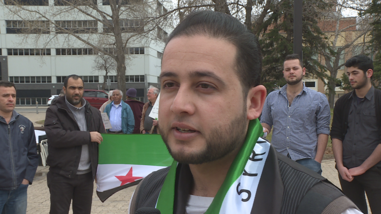 'No one responds to our screams': refugee at Syrian peace rally in Regina