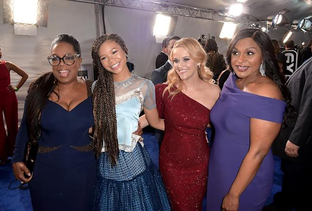 <p>The ladies of Disney's <em>A Wrinkle in Time</em> worked their magic at the premiere of their new film at the El Capitan Theatre on Monday in L.A. (Photo: Kevin Winter/Getty Images) </p>