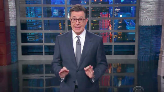 Stephen Colbert had a blunt message for Donald Trump on Tuesday.