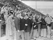 """<p>At the 1956 Melbourne Olympics, a water polo match turned violent when Hungary's star player <a href=""""https://www.bbc.com/news/world-14575260"""" rel=""""nofollow noopener"""" target=""""_blank"""" data-ylk=""""slk:Ervin Zador got punched in the face by Russian opponent"""" class=""""link rapid-noclick-resp"""">Ervin Zador got punched in the face by Russian opponent</a> Valentin Prokopov. The incident has become symbolic of political tensions at the time resulting from the Hungarian struggle against Soviet rule.</p>"""