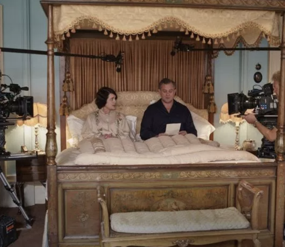 """<p>Cora, Mary and Edith all had the same bedrooms in real life — it was just redecorated depending on what room it needed to be. And it was redecorated quite often, apparently. </p><p>""""By the end of the season it's quite thick with paint and wallpaper,"""" Donal Woods, production designer, <a href=""""http://www.pbs.org/video/2365085277/"""" rel=""""nofollow noopener"""" target=""""_blank"""" data-ylk=""""slk:told PBS"""" class=""""link rapid-noclick-resp"""">told PBS</a>. """"If you're very smart, you'll look out the window and it's always the same view.""""</p>"""