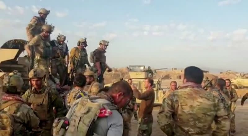 FILE PHOTO: Afghan special forces fighting to drive Taliban in northern Kunduz