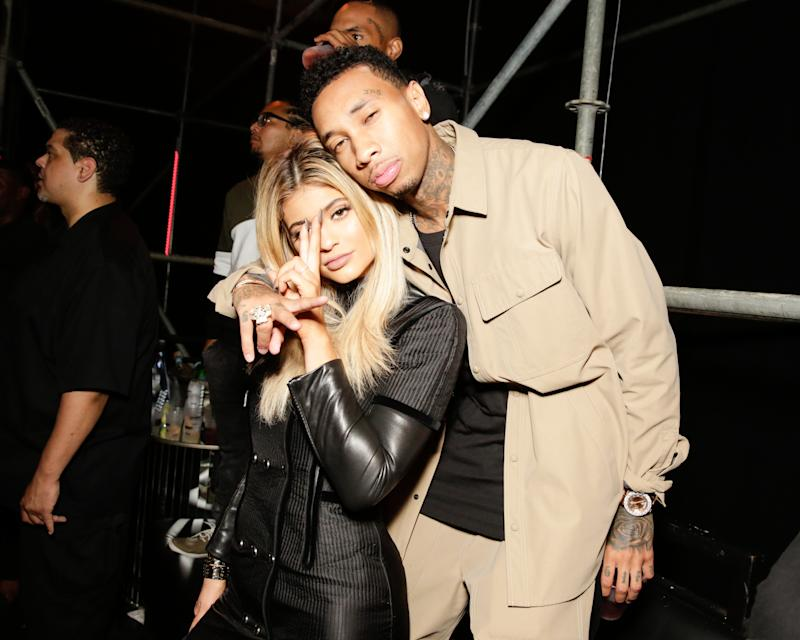 Kylie Jenner and Tyga at Alexander Wang's Spring 2016 after party. Photo by BFAnyc.com.