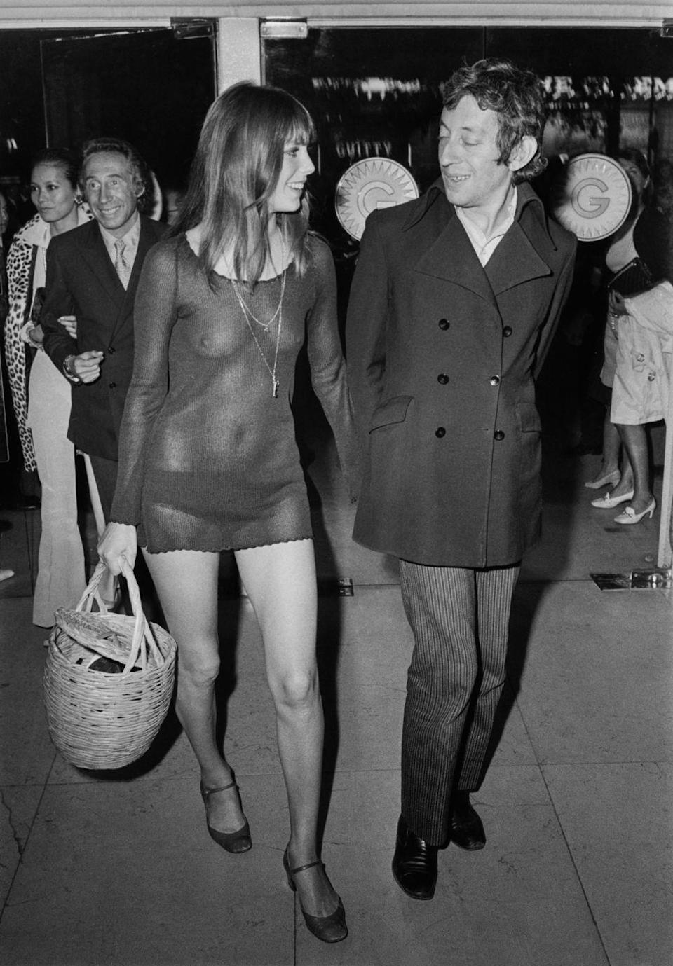 <p>Could a sultry '60s date night look be any more perfect than Jane Birkin's sheer dress?</p>