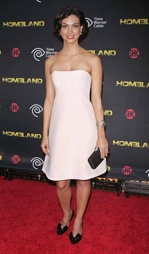 "Morena Baccarin attends the Season 2 premiere of ""Homeland"" hosted by Time Warner Cable & Showtime at the Intrepid Sea-Air-Space Museum on September 7, 2012 in New York City."