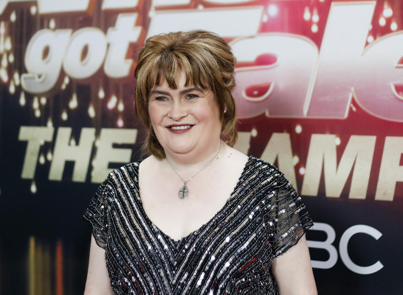Susan Boyle attends the 'America's Got Talent: The Champions' Finale at Pasadena Civic Auditorium on October 17, 2018 in Pasadena, California. (Photo by Tibrina Hobson/WireImage,)