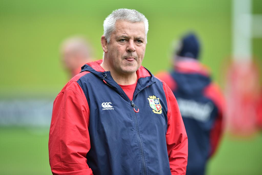 British and Irish Lions coach Warren Gatland watches his team at their captain's run ahead of the first rugby Test in Auckland on June 23, 2017. The British and Irish Lions will play the New Zealand All Blacks in the first rugby Test in Auckland on June 24. (AFP Photo/PETER PARKS)