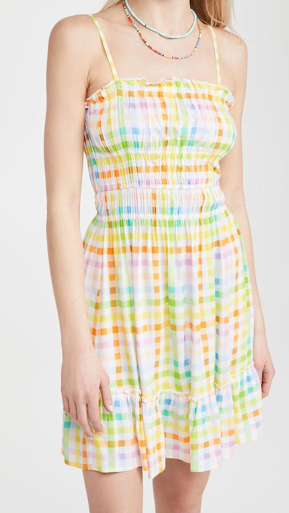 <p>This <span>Playa Lucila Minidress</span> ($125) is a bright and cheerful option you should take on your next vacation.</p>