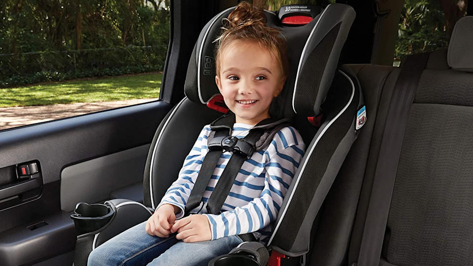 This compact car seat will keep your child safe—and it'll fit in your small car.