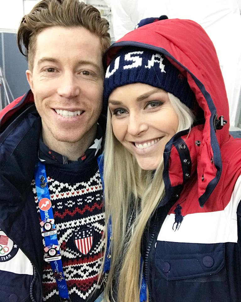 <p>lindseyvonn: Incredibly humbled and honored to walk in the opening ceremonies with my fellow Americans! We had a blast! A memory I will cherish forever. LET THE GAMES BEGIN!! (Photo via Instagram/lindseyvonn) </p>