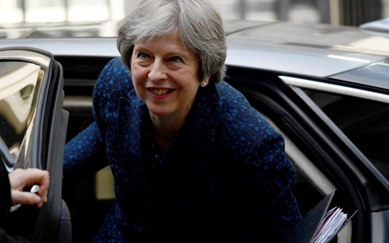 Theresa May would not use the phrase 'tier one' when talking about Britain's future military status - REUTERS