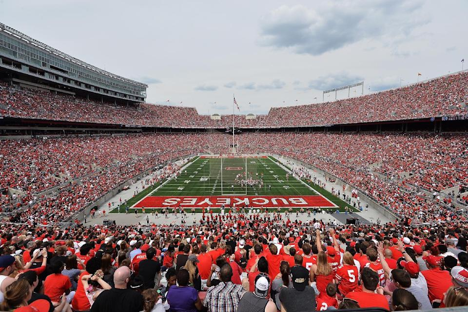 Buckeyes set spring game record as staggering number of fans pack Ohio Stadium