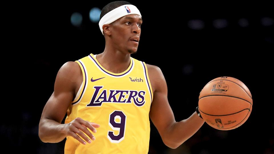 Rajon Rondo, pictured playing for the Lakers, is worth only a speculative look for fantasy owners.
