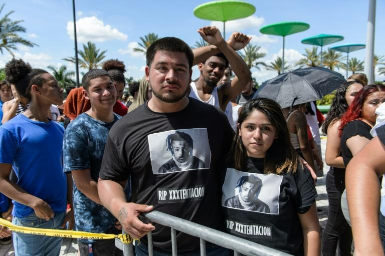 XXXTentacion's murder in 2018 triggered an outpouring of grief from his ardent fan base (AFP Photo/Jason Koerner)