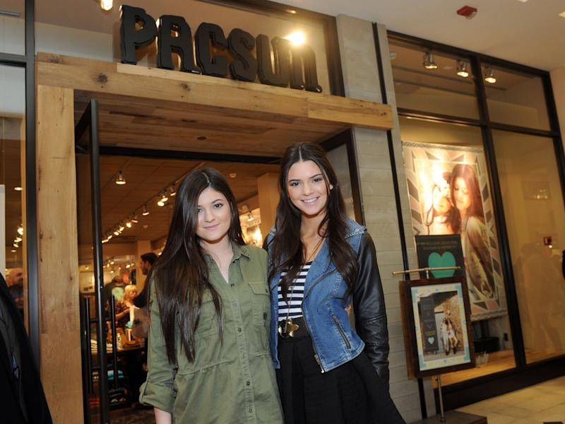 FILE - This Feb. 8, 2013 file photo released by PacSun shows sisters Kendall, right, and Kylie Jenner at the launch their Kendall & Kylie collection on Long Island, N.Y. Kendall, 17, and Kylie, 15, has teamed up with PacSun to put out clothes aimed at teen girls. (AP Photo/PacSun, Diane Bondareff, file)