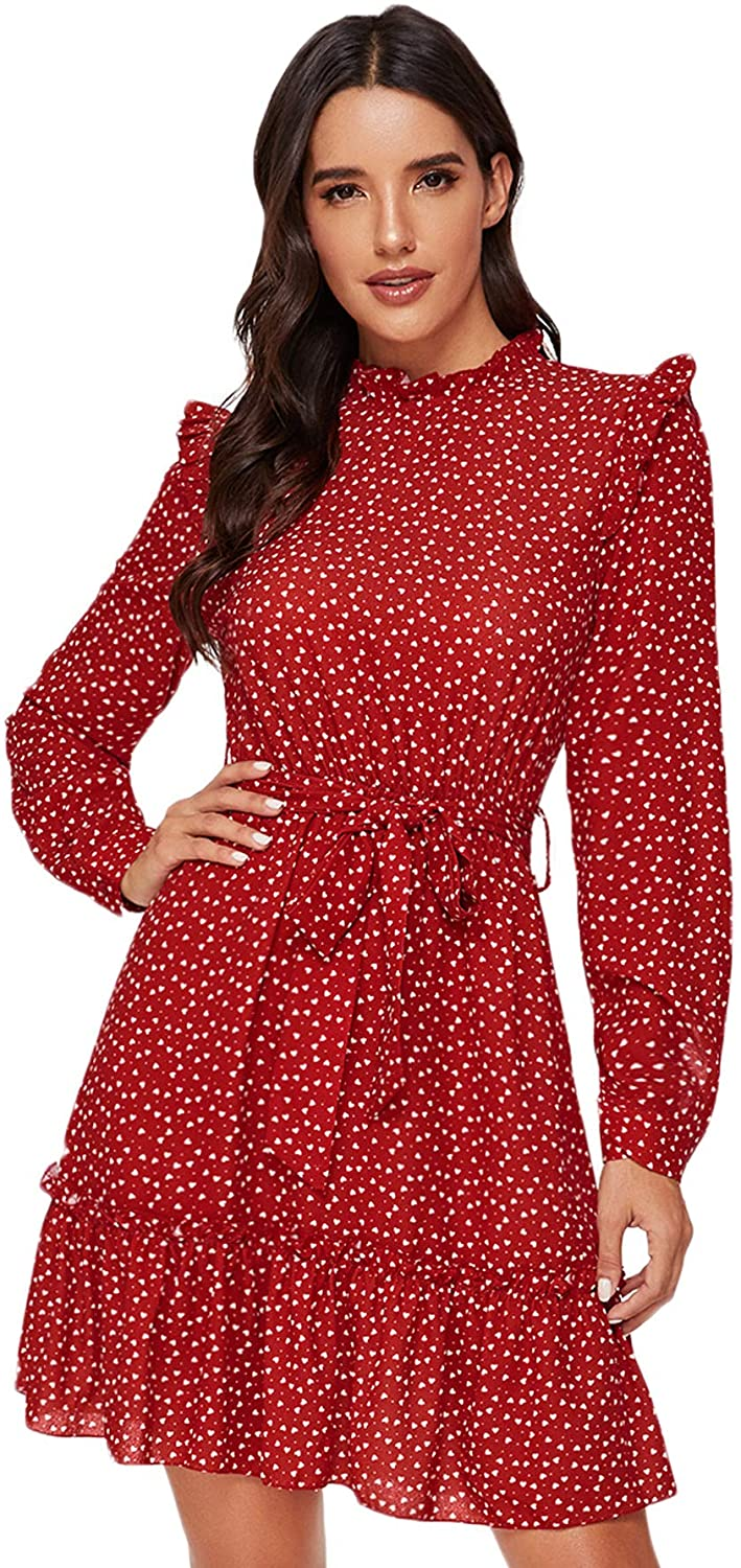 """<br><br><strong>Floerns</strong> Long Sleeve Ruffle Trim Dress, $, available at <a href=""""https://amzn.to/3msCCLd"""" rel=""""nofollow noopener"""" target=""""_blank"""" data-ylk=""""slk:Amazon"""" class=""""link rapid-noclick-resp"""">Amazon</a>"""